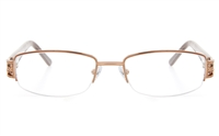 ZB018 Female Semi-rimless Square Optical Glasses