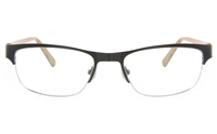 ZB ZB021 Unisex Semi-rimless Square Optical Glasses